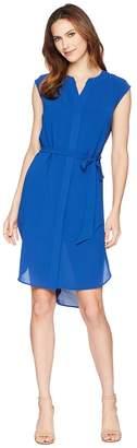Adrianna Papell Gauzy Crepe Shirtdress Women's Dress