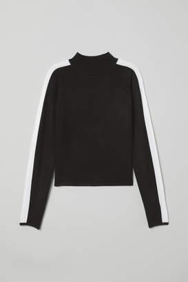 H&M Mock-turtleneck Sweater - Black