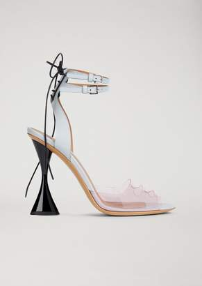Emporio Armani Sandals With Pvc Band And Hourglass Heel