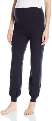 Belabumbum Women's Maternity and After Yoga Jogger Pant with Fold Over Waistband