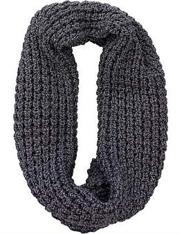 D Lux Fisherman'S Rib Cotton Knit Infinity Loop Scarf