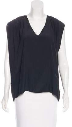 Ramy Brook Pleated V-Neck Top