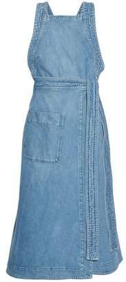 Stella McCartney Wrap-Effect Denim Midi Dress