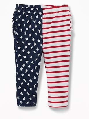 Old Navy Flag-Print Ruffle-Back Leggings for Baby