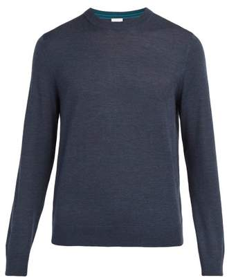 Paul Smith Crew Neck Wool Sweater - Mens - Mid Blue