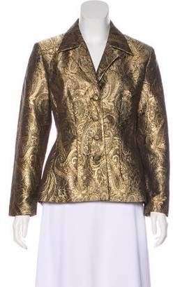 Naeem Khan Silk Brocade Blazer