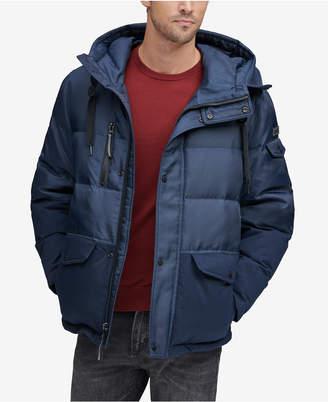 Andrew Marc Men's Stanton Mid-Length Hooded Puffer Jacket