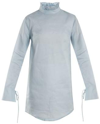 Cecilie Bahnsen - Nelly Cotton Mini Dress - Womens - Light Blue
