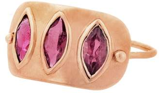 Celine Daoust Pink Tourmaline Trio Ring - Rose Gold