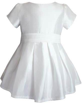 Isabel Garreton Short-Sleeve Silk Special Occasion Dress, Size 2-8