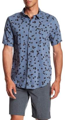 RVCA OD Floral Short Sleeve Slim Fit Shirt