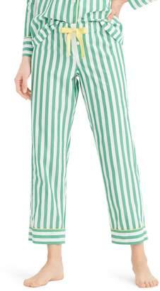 J.Crew Cropped Lightweight Stripe Cotton Pajama Pants