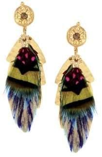 Gas Bijoux Sao Feather Drop Earrings