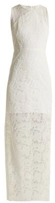 Diane Von Furstenberg - Embroidered Mesh Sleeveless Dress - Womens - White