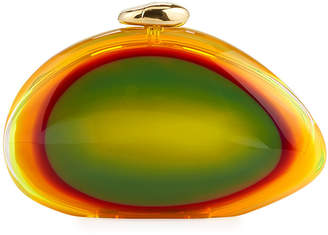 Benedetta Bruzziches Ariel Smooth Minaudiere Clutch Bag, Bright Yellow