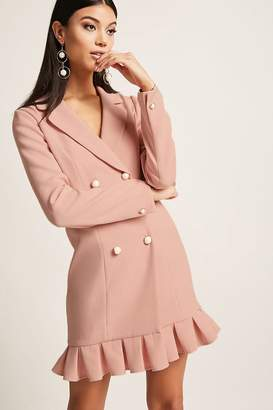 Forever 21 Box-Pleated Blazer Dress
