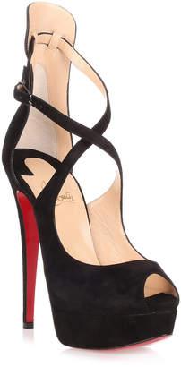 Christian Louboutin Marlenalta 150 black suede sandal