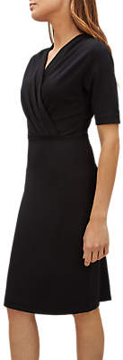 Tuck Detail Dress, Black
