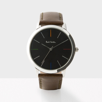 Paul Smith Men's Black And Brown 'Ma' Watch $300 thestylecure.com