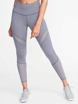 Old Navy High-Rise Mesh-Trim 7/8-Length Leggings for Women