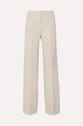 Max Mara Wool-blend Crepe Wide-leg Pants - Beige