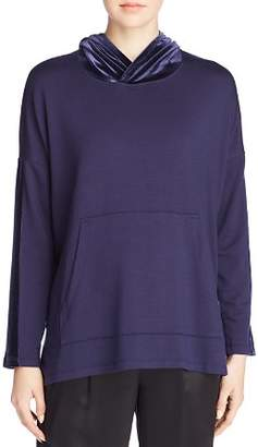 Eileen Fisher Velvet-Hooded Top