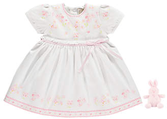 Emile et Rose Baby Maddy Dress And Jersey Pants, Pink/White