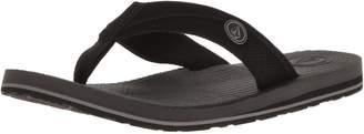 Volcom Men's Lounger Memory Foam flip Flop Sandal Black 7 B US