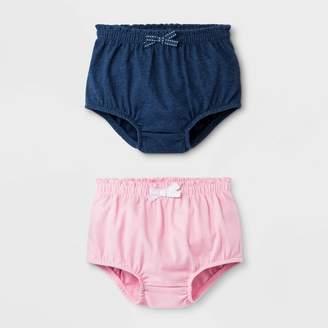 Cat & Jack Baby Girls' 2pk Bloomer Pull-On Shorts - Cat & JackTM Blue/Pink