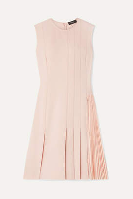 Theory Pleated Crepe Mini Dress - Neutral