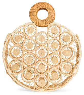 Cult Gaia Stella Round Straw Bag