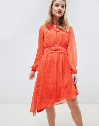 Vero Moda Asymetric Polka Dot Prairie Dress