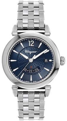 Salvatore Ferragamo Men's Feroni GMT Quartz Stainless Steel Bracelet Watch