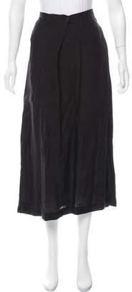 eskandar Linen Midi Skirt