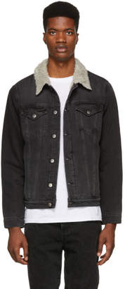 Frame Black Sherpa Denim Jacket
