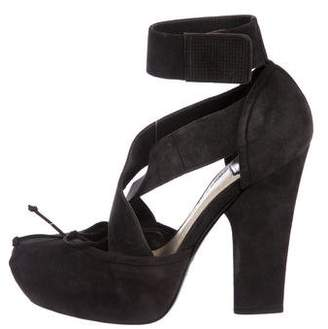 Christian Dior Suede Platform Sandals