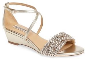 Women's Badgley Mischka Tressa Embellished Wedge Sandal $198 thestylecure.com