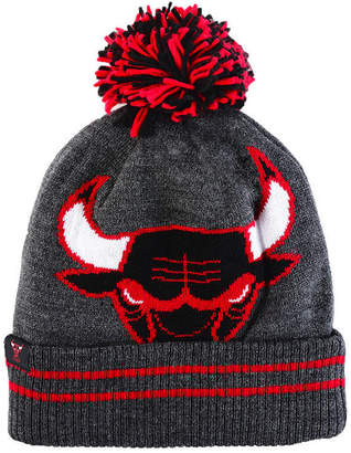 Mitchell & Ness Chicago Bulls Black Heather Hi-5 Pom Knit