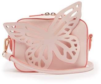 Sophia Webster Brooke Butterfly Appliqued Leather Cross Body Bag - Womens - Light Pink