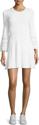 A.L.C. Malindi Crewneck Fit-and-Flare Knit Dress
