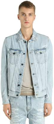 Diesel Black Gold Ripped Denim Jacket