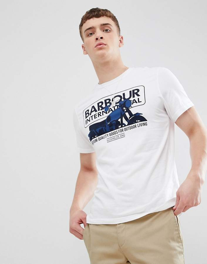 Barbour International – Hydron – Weißes T-Shirt