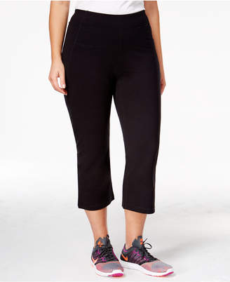 Calvin Klein Plus Size Slimming High-Waisted Capri Leggings