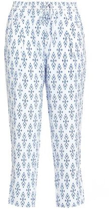 Joie Dilys Cropped Printed Silk Tapered Pants