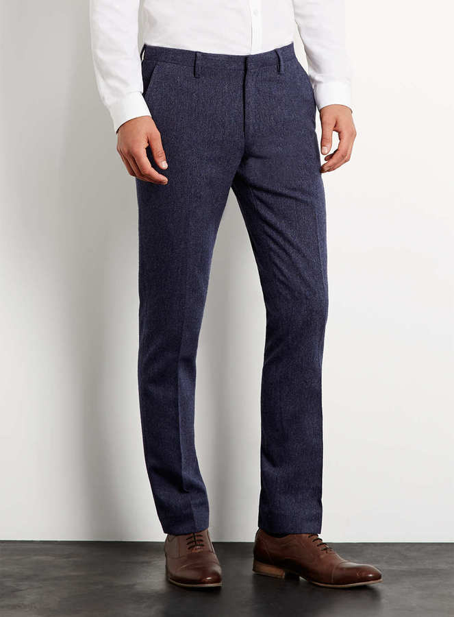 Topman Premium Blue Suit Pants