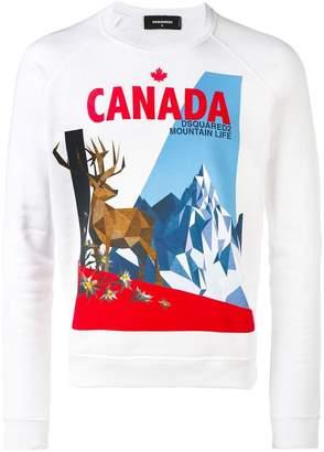 DSQUARED2 Canada moose print sweatshirt