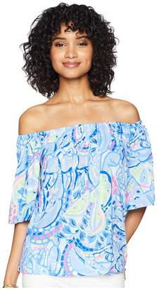 Lilly Pulitzer Sain Off-The-Shoulder Top Women's Clothing
