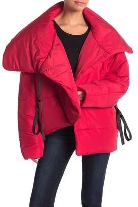 Romeo & Juliet Couture Surplice Wrap Puffy Jacket