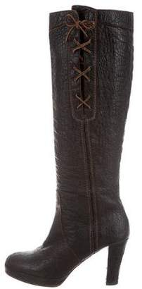 Henry Beguelin Embossed Leather Knee-High Boots