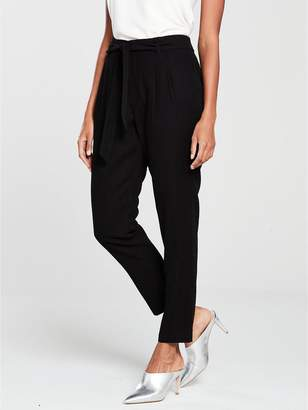 Wallis Paperbag Trouser - Black